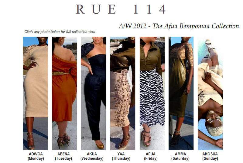 Rue 114 Fall 2012 Collection