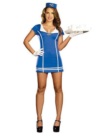 Plus Size Flight Attendant Costume