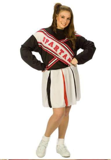 Plus Size SNL Spartan Cheerleader Costume