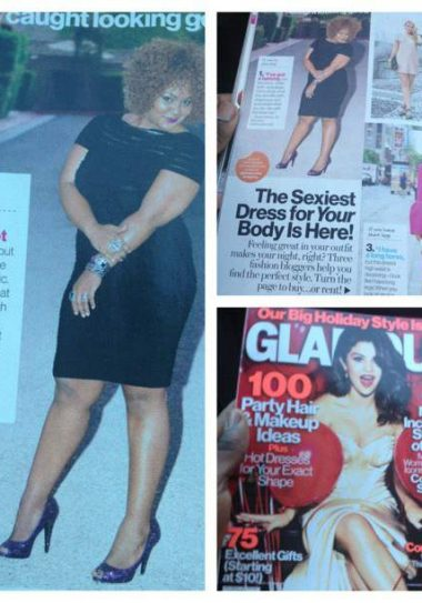 The Curvy Fashionista in December Glamour
