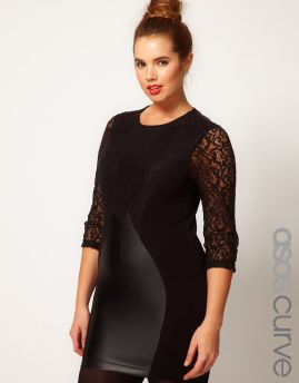 ASOS Curve Leather and Lace