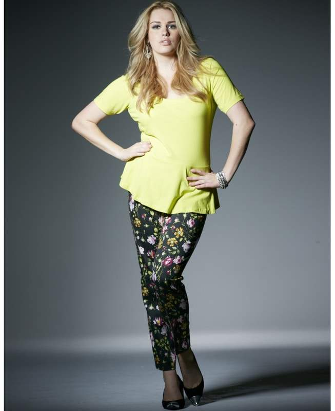 Simply Be Plus Size MAGI-FIT PRINT ANKLE LENGTH PANTS