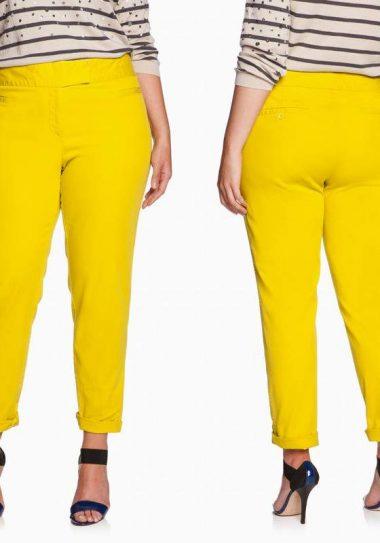 Eloquii Plus Size Yellow Chino Pants