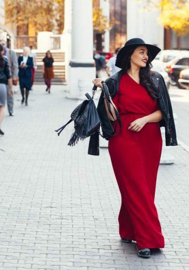 Plus size woman Walking