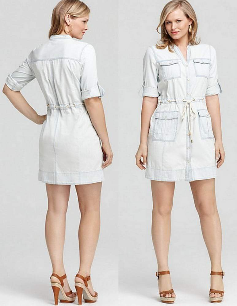 Michael Kors Plus Size Denim Dress