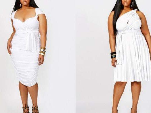 Plus Size Little White Dresses