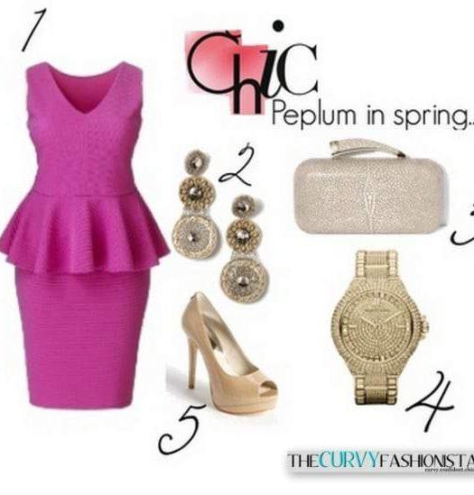TCF Plus size Peplum Trend Spring 2013