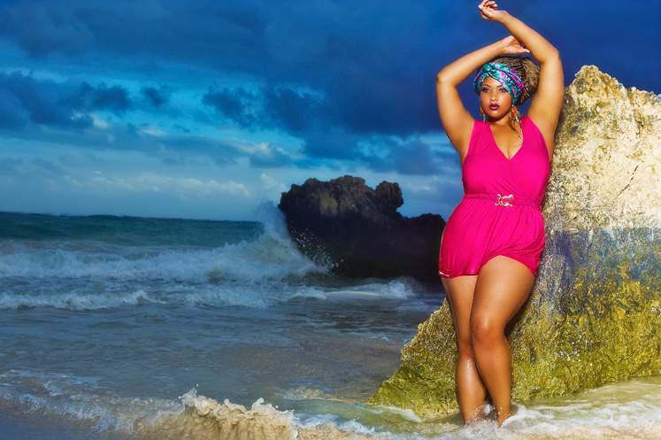 Monif C Plus Sizes Swim: Island Gypsy 2013 Collection