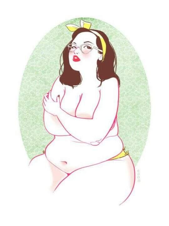 Sketch of a plus size woman