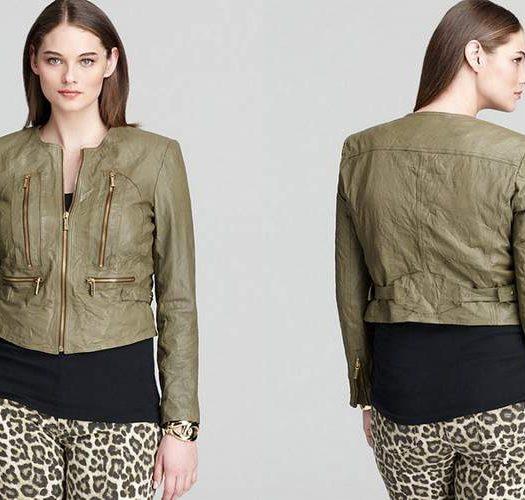 Michael Michael Kors Plus Size Leather Jacket
