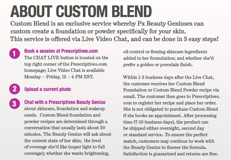 Prescriptives Online Custom Blend Review