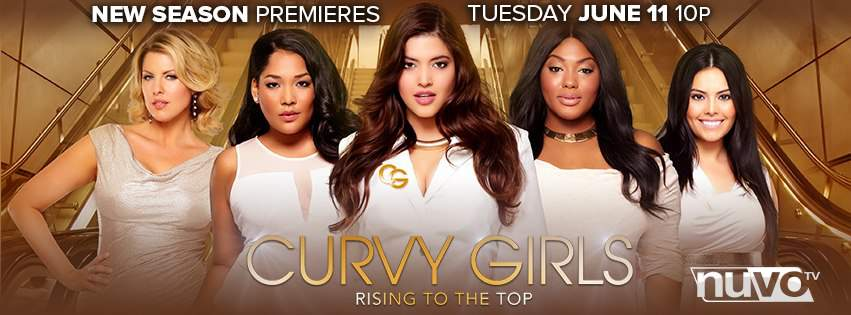 Curvy Girls TV Show on NUVO TV featuring Rosie, Ivory, Denise, Lornalitz, and Joanne