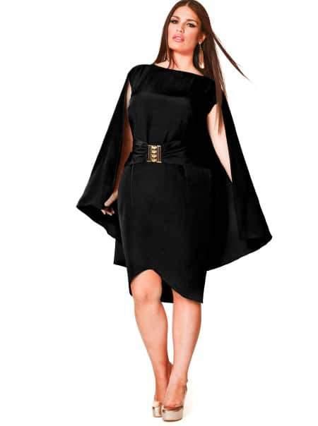 Monif C Plus Sizes May Cape Dress