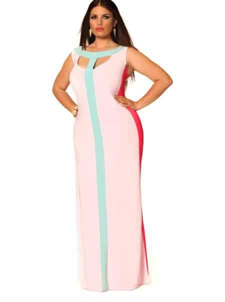 Monif C plus Sizes tessa mint Dress