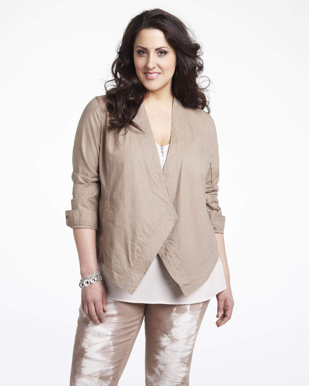 additionelle DKNY Linen Draped jacket