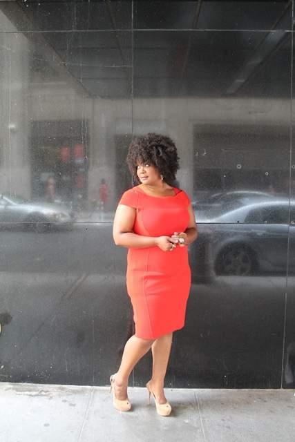 The Curvy Fashionista in Marina RInaldi Dress