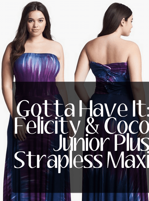 Felicity & Coco Junior Plus Size Strapless Dress at Nordstrom