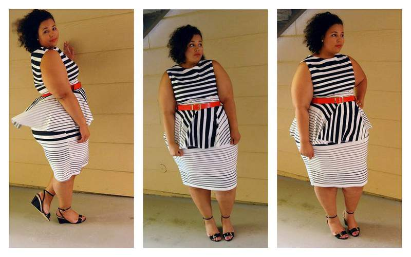 Garnerstyle in Jibri Peplum Striped Dress