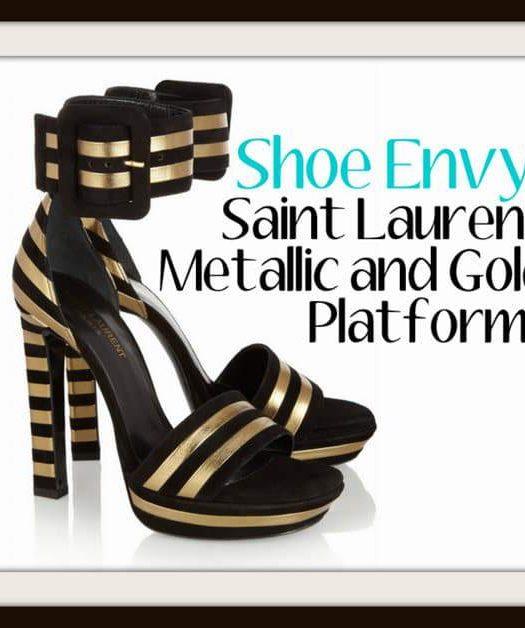 Saint Laurent Metallic Platform Heels
