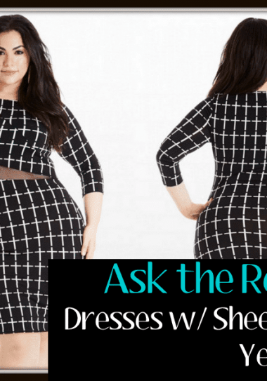 Ask the reader: Plus Size sheer Mesh detail dresses