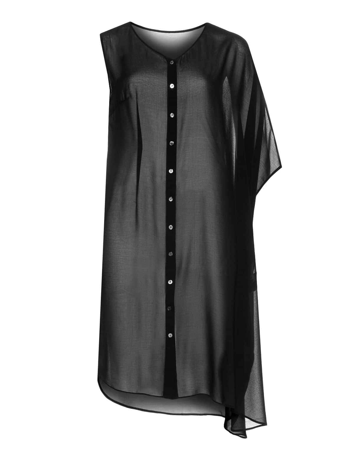 Plus size designer: Manon Baptiste Asymmetrical Dress at Navabi