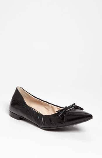 Prada Pointed Toe Ballerina