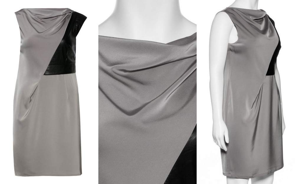 Plus Size Manon Baptiste Dress with leather insets