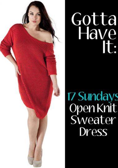 Australian plus size designer, 17 Sundays Sweater dress