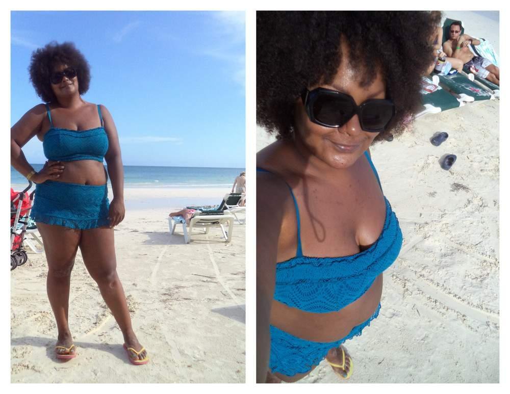 Marie Denee on Vacation Plus Size Bikini Style