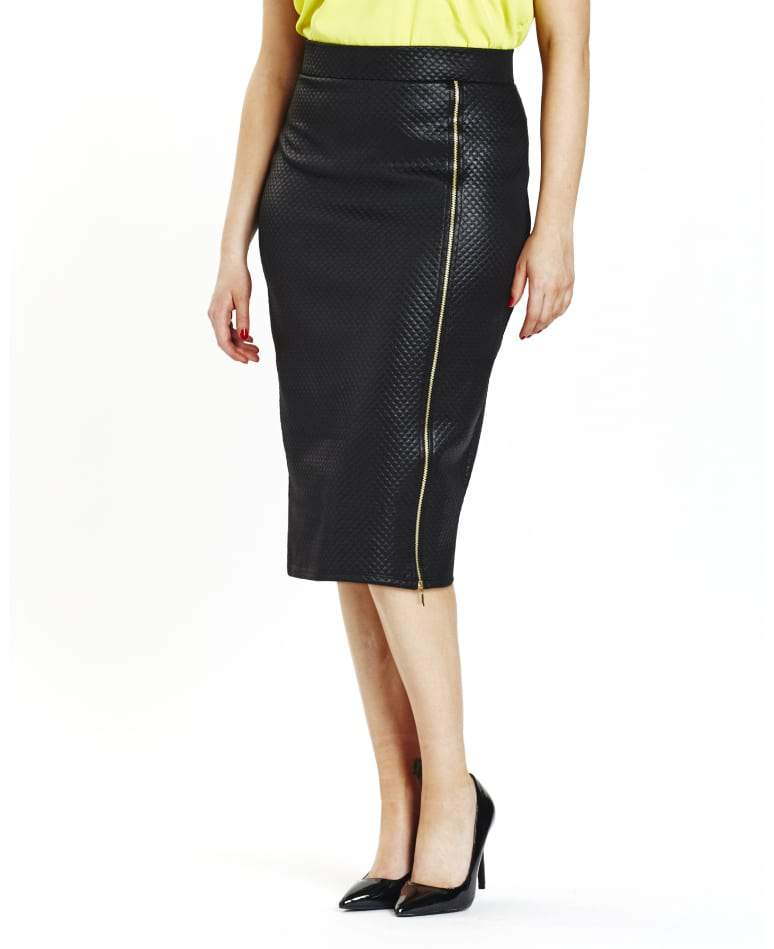 Simply Be Plus Size Leather midi skirt