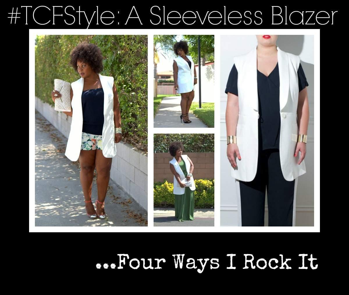 Big beauty JMP sleeveless blazer