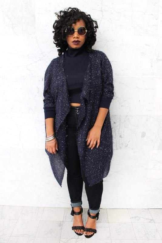 Plus size designer- Zelie for She forever-young-sapphire-shawl