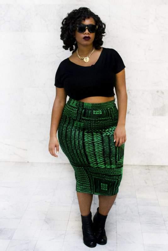 Plus size designer- Zelie for She forever-young-emerald-skirt