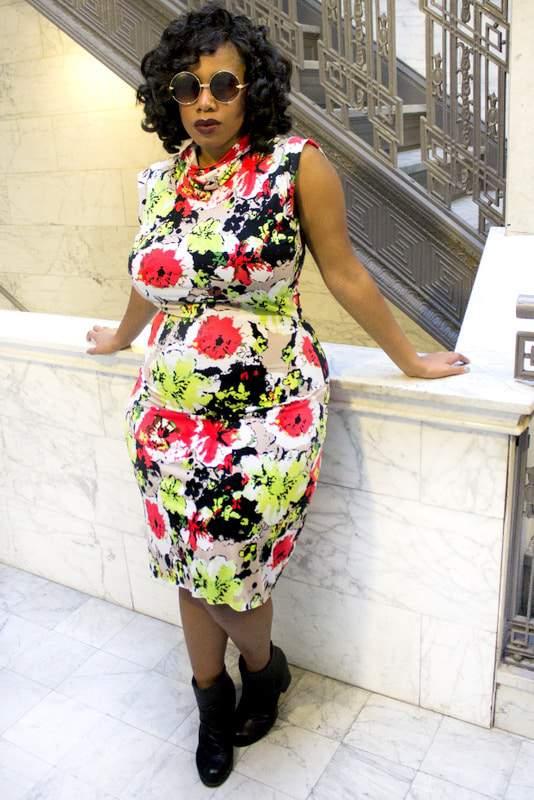 Plus size designer- Zelie for She forever-young-bloom-dress