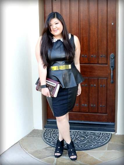 curvygirlchic #TCFStyle Five Looks We Love: Faux Leather