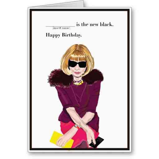 Anna Wintour Birthday Card