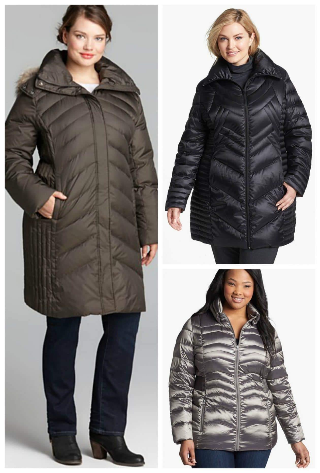 plus size puffer coats