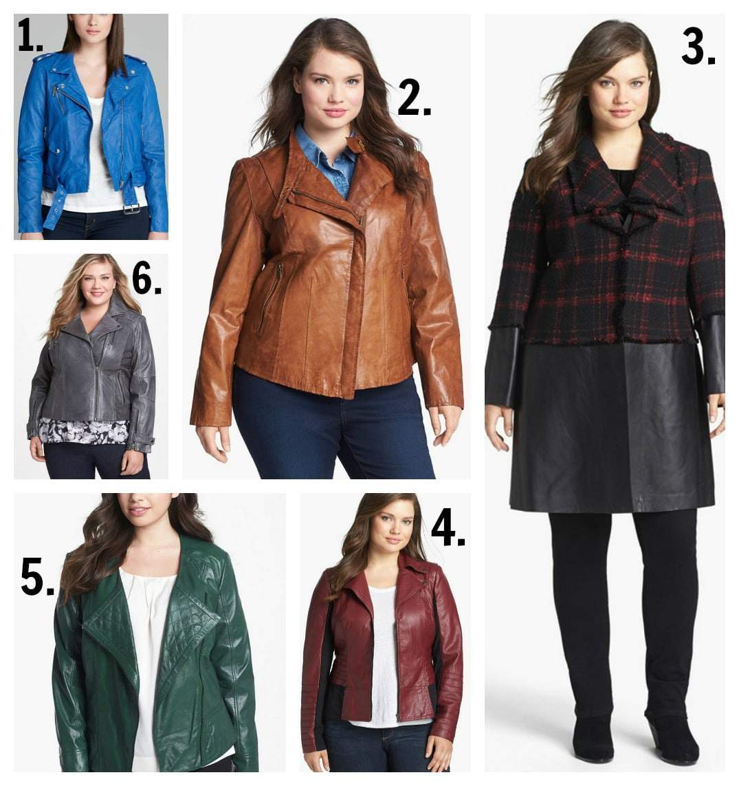 Plus Size Leather Jackets