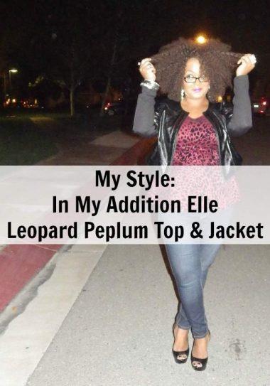 my Addition Elle Leopard Peplum