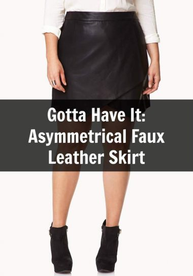 Gotta Have It: This Plus Size Asymmetrical Faux Leather Skirt from Forever 21