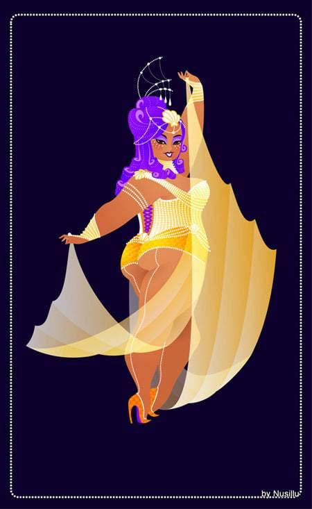 Plus Size Burlesque Art by Nusillu