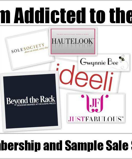 membership and sample sale sites