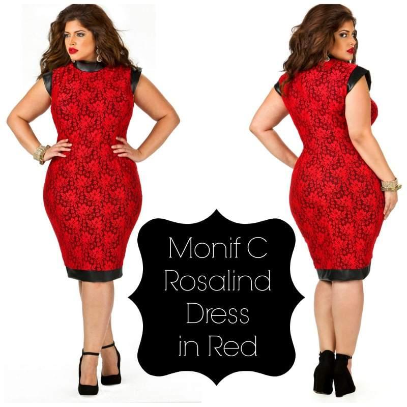 Monif C Rosalind Dress in Red
