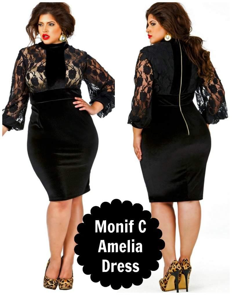 Monif C Plus Sizes Amelia Dress