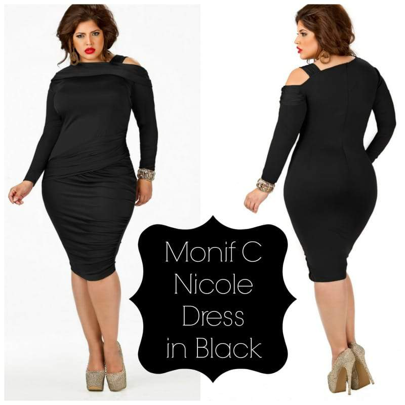Monif C Nicole Dress in Black