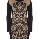 fine-knit-dress-with-jacquard-pattern-by-tuzzi-nero-Plus Size Sweater Dress on The Curvy Fashionista
