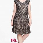 foiled-lace-fit-flare-dress