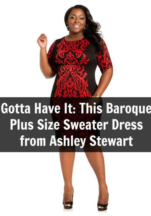 Gotta Have It: This Baroque Plus Size Sweater Dress from Ashley Stewart