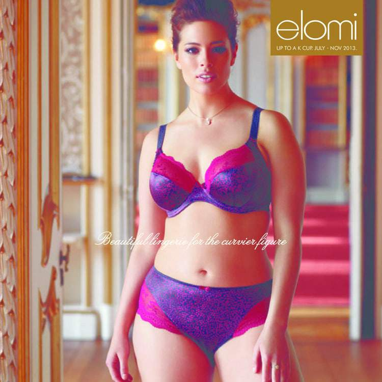 Elomi Lingerie Fall 2013 featuring Ashley Graham