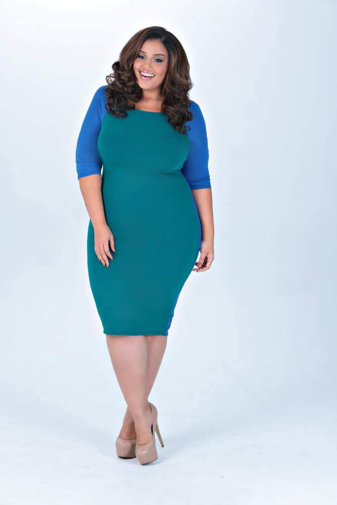 TwentyFour20 by Allison McGevna Curveball dress on The Curvy Fashionista